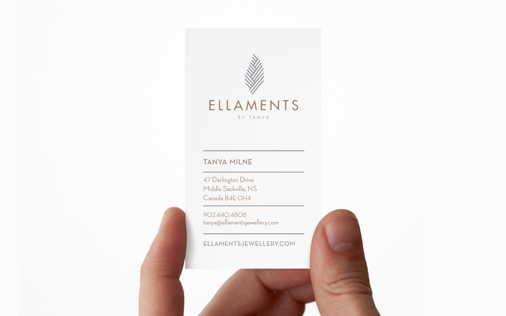 Ellaments Business card design
