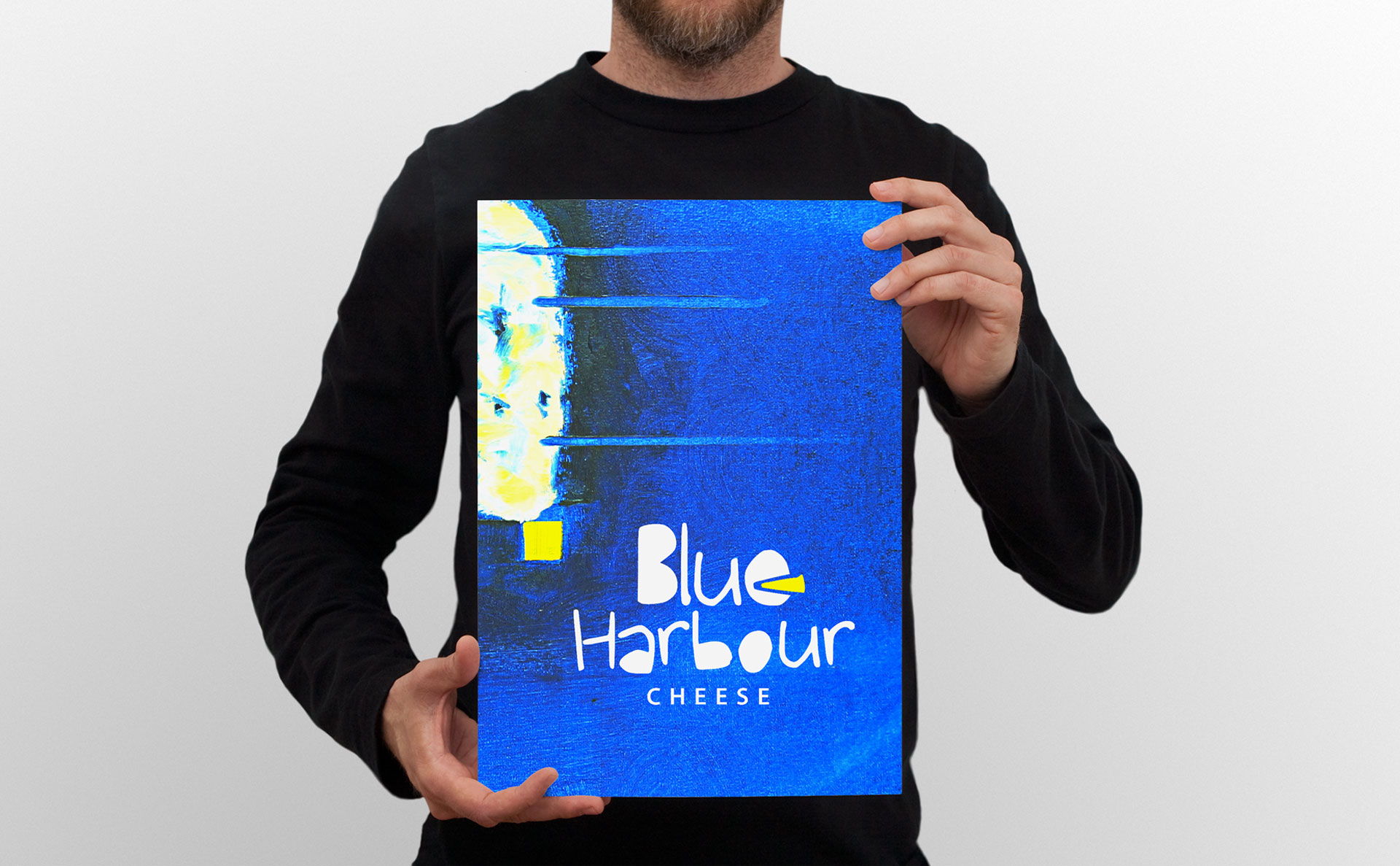 Blue harbour cheese artwork, blue, Nova Scotia