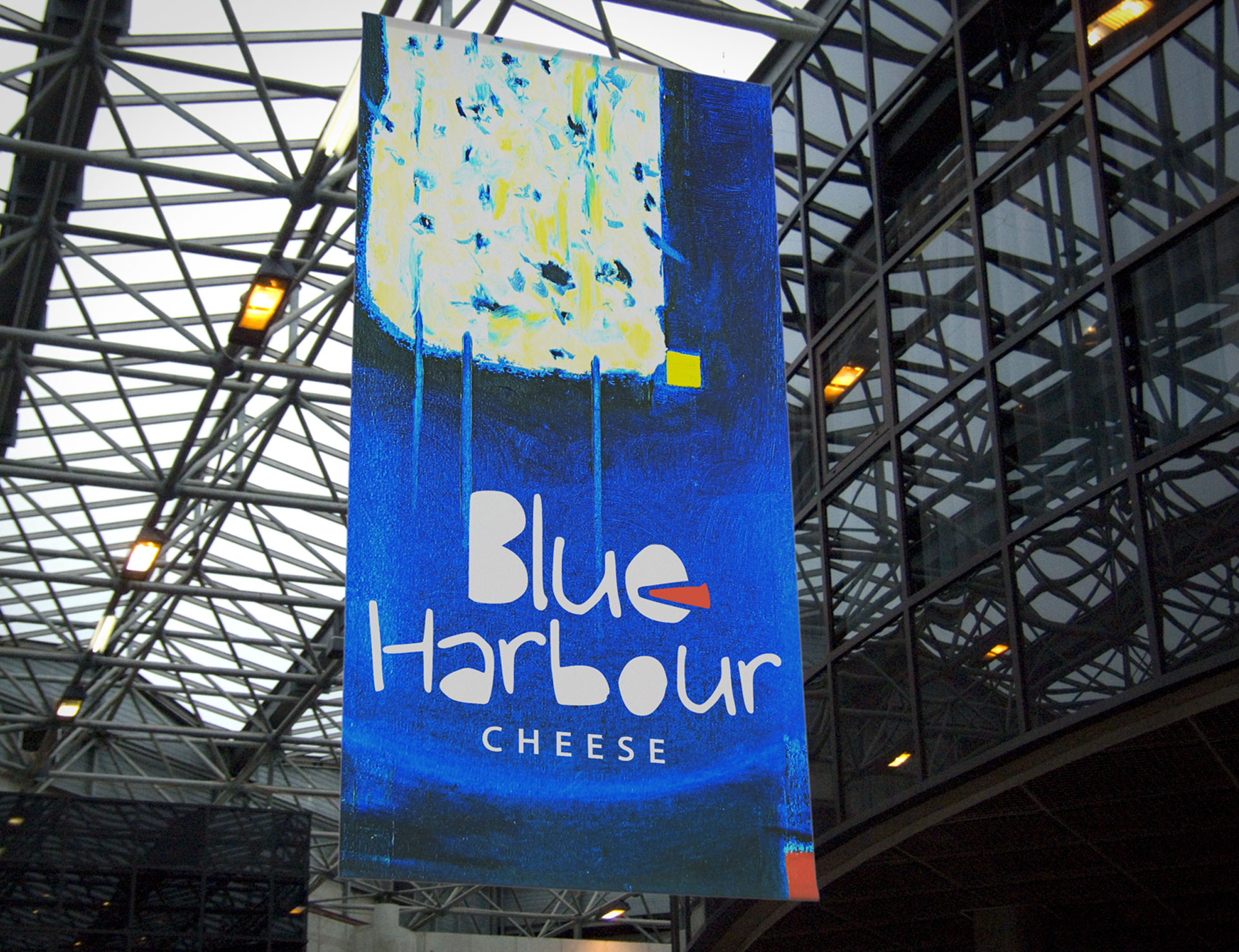 Print advertisement for Blue Harbour cheese