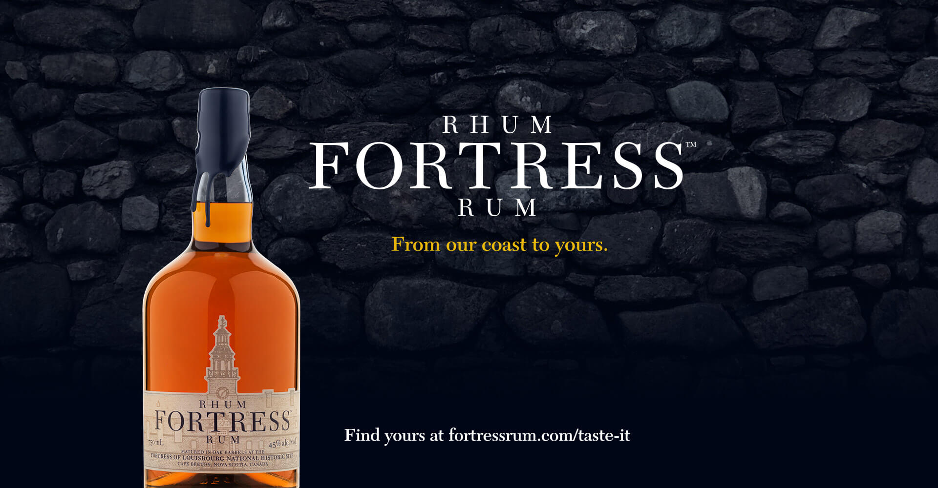 Fortress Rum socail media ad, Halifax Distilling co.