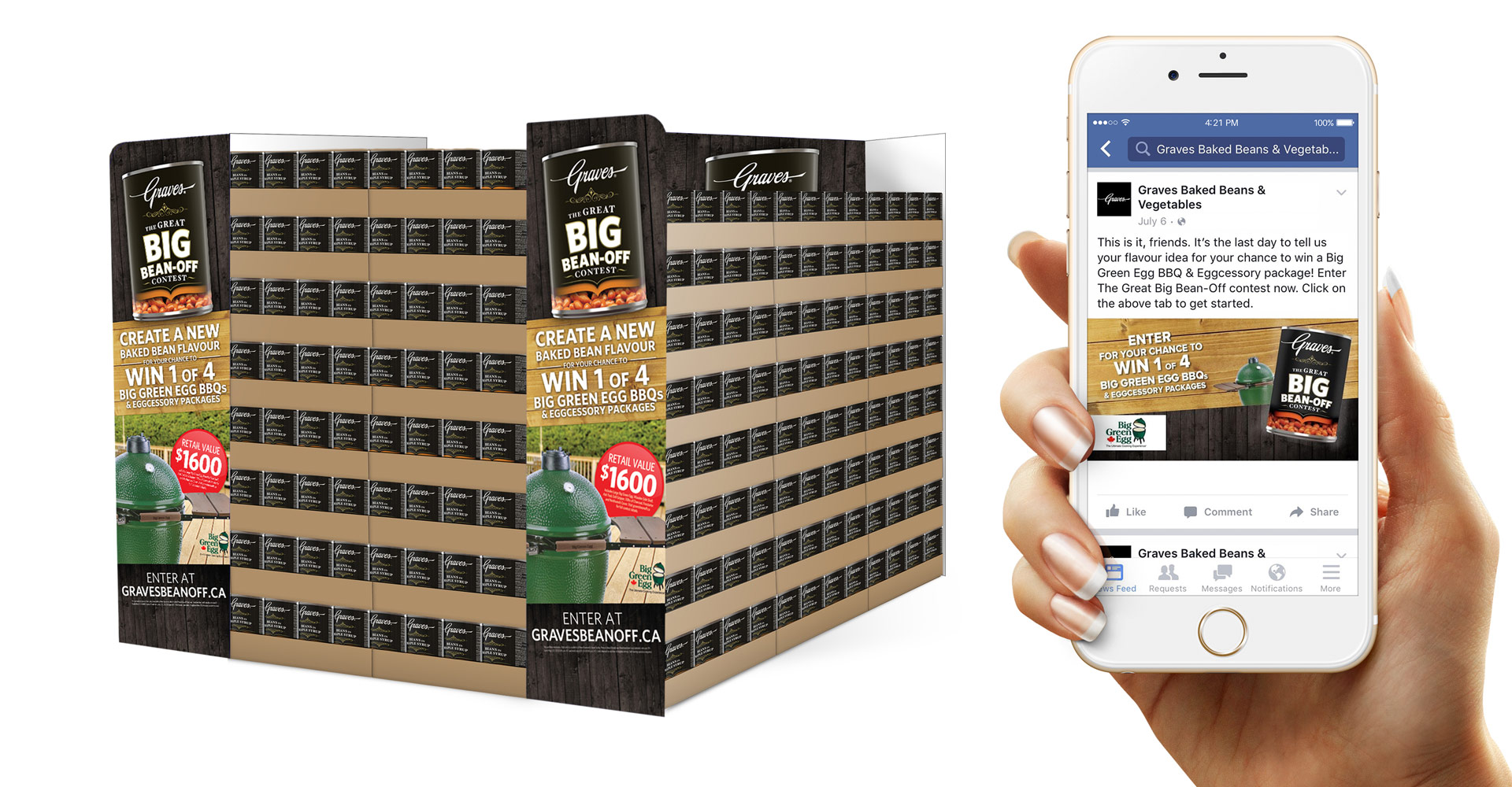 Graves baked beans experiential marketing and digital design.