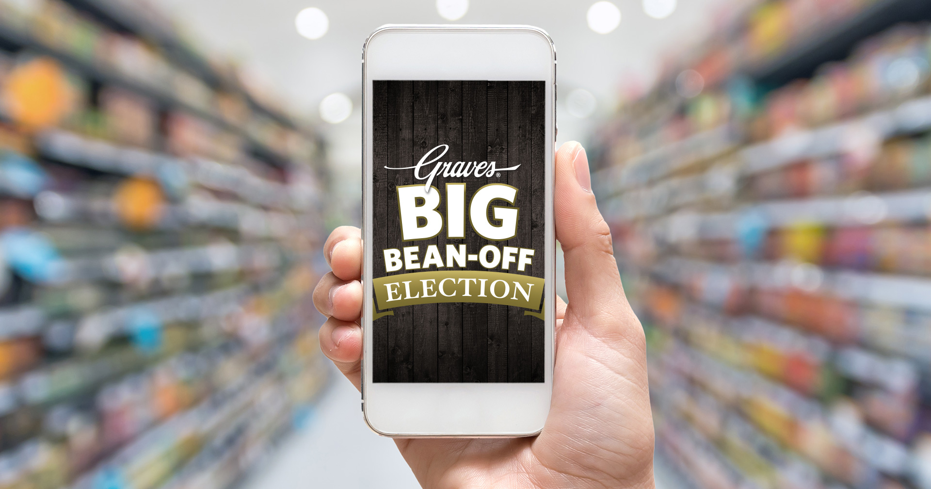 Graves Beans Election mobile design.