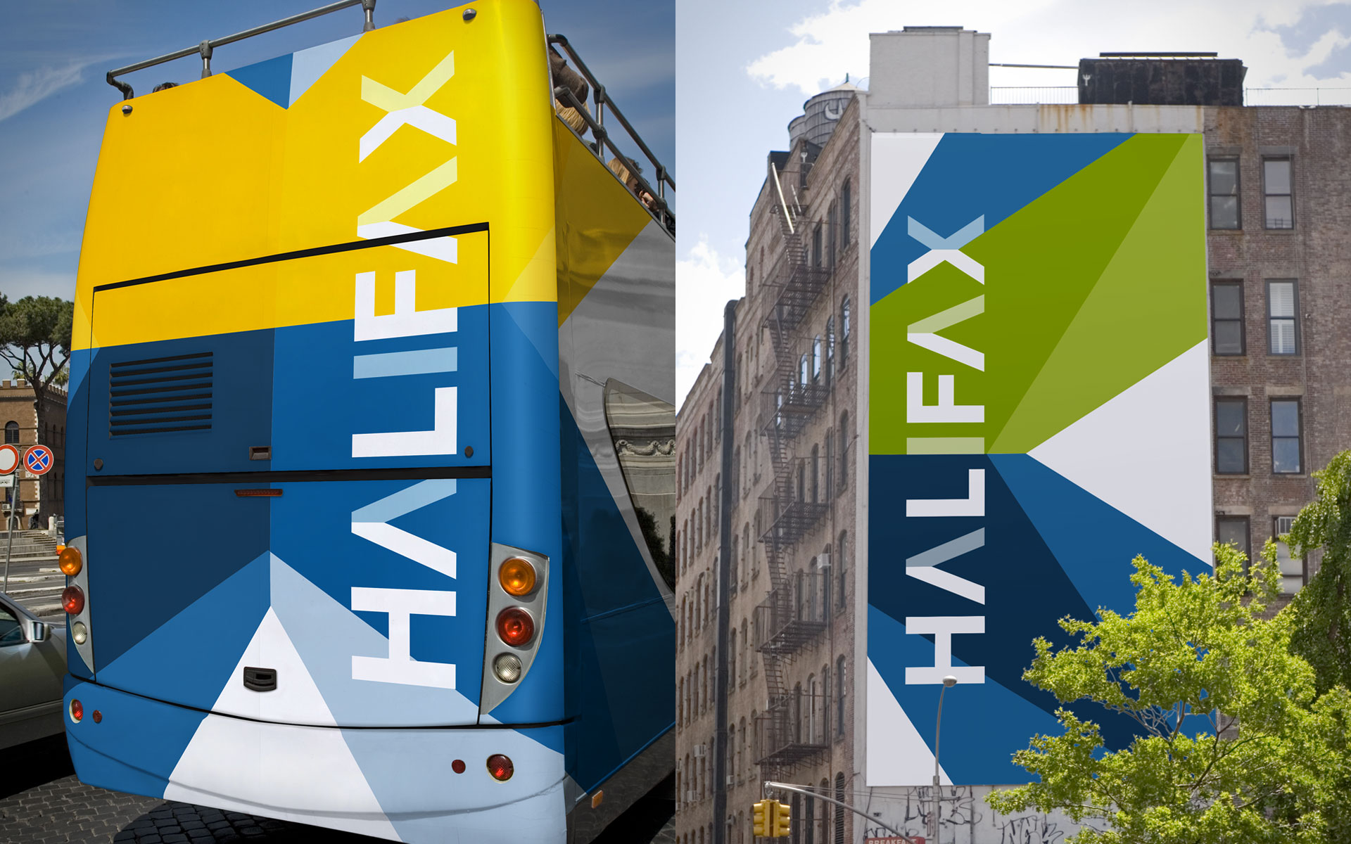Halifax Bus design and Print Advertisements