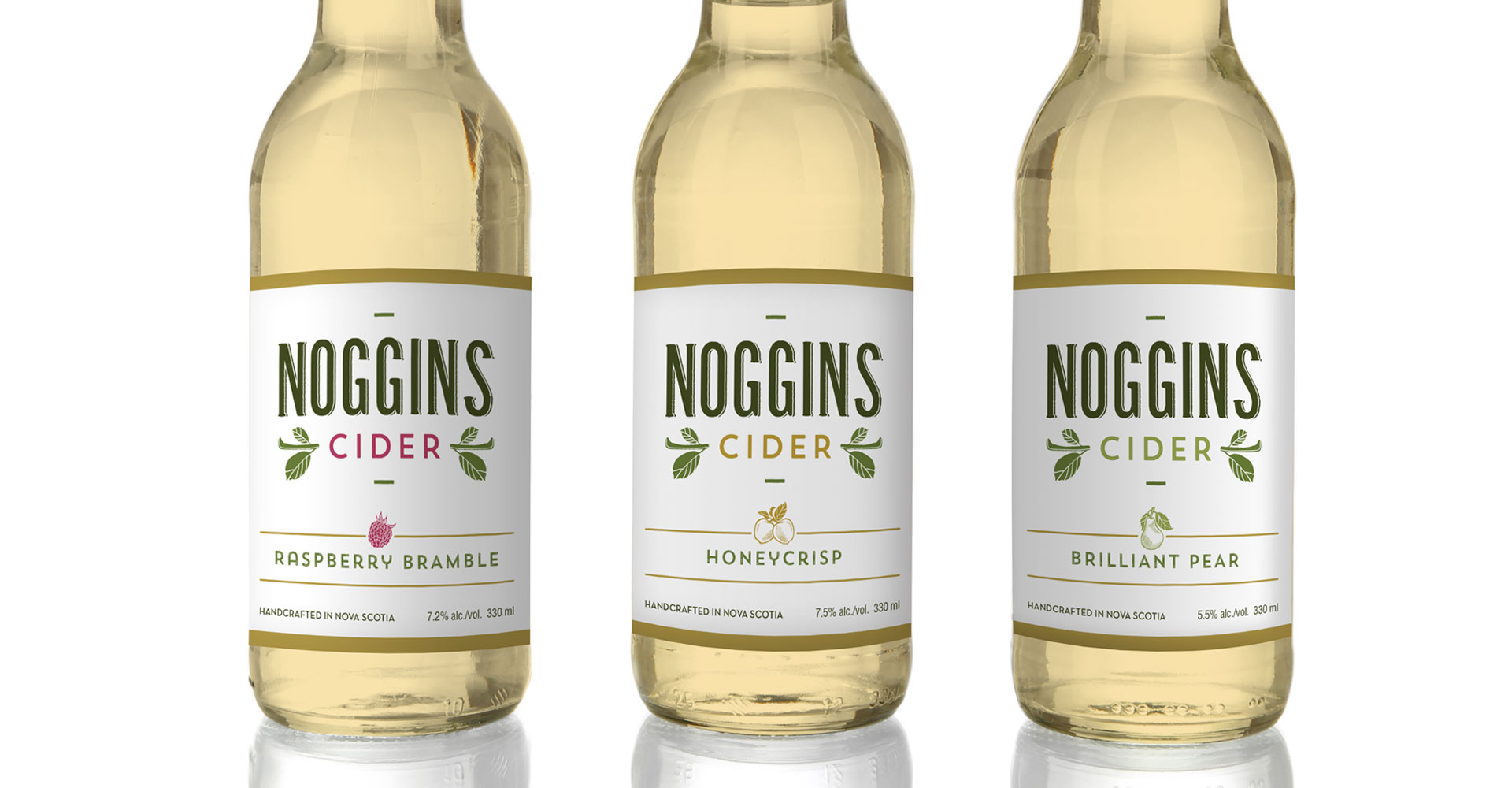 Noggins Cider bottle design