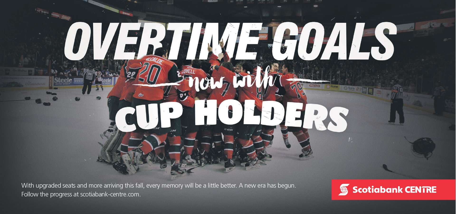 Scotiabank centre print ad Hockey