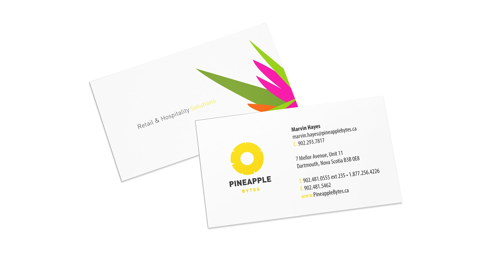 Pineapple Bytes business card design