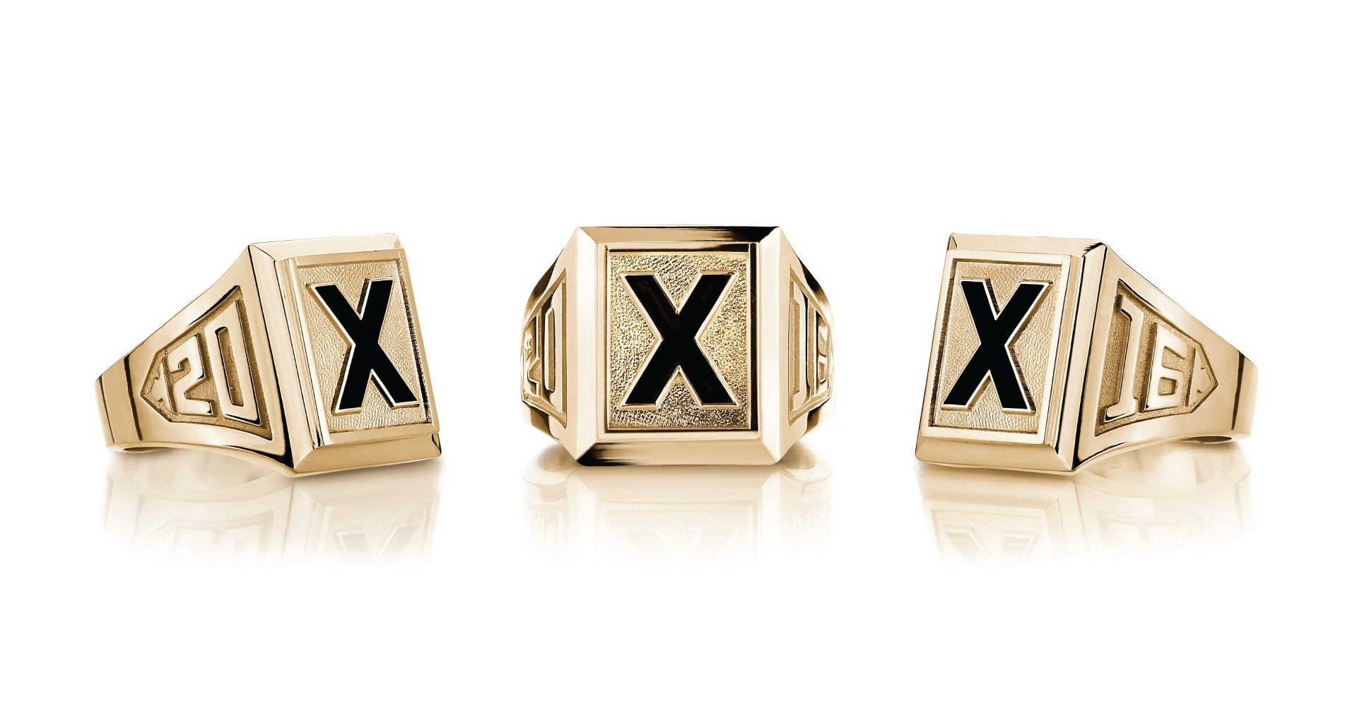 X ring, St.fx Ring, Gold X-ring