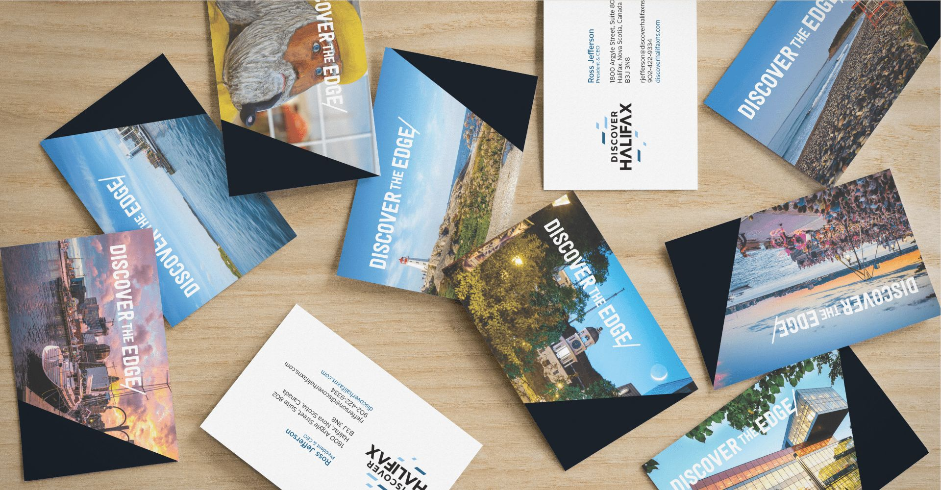Discover Halifax business cards