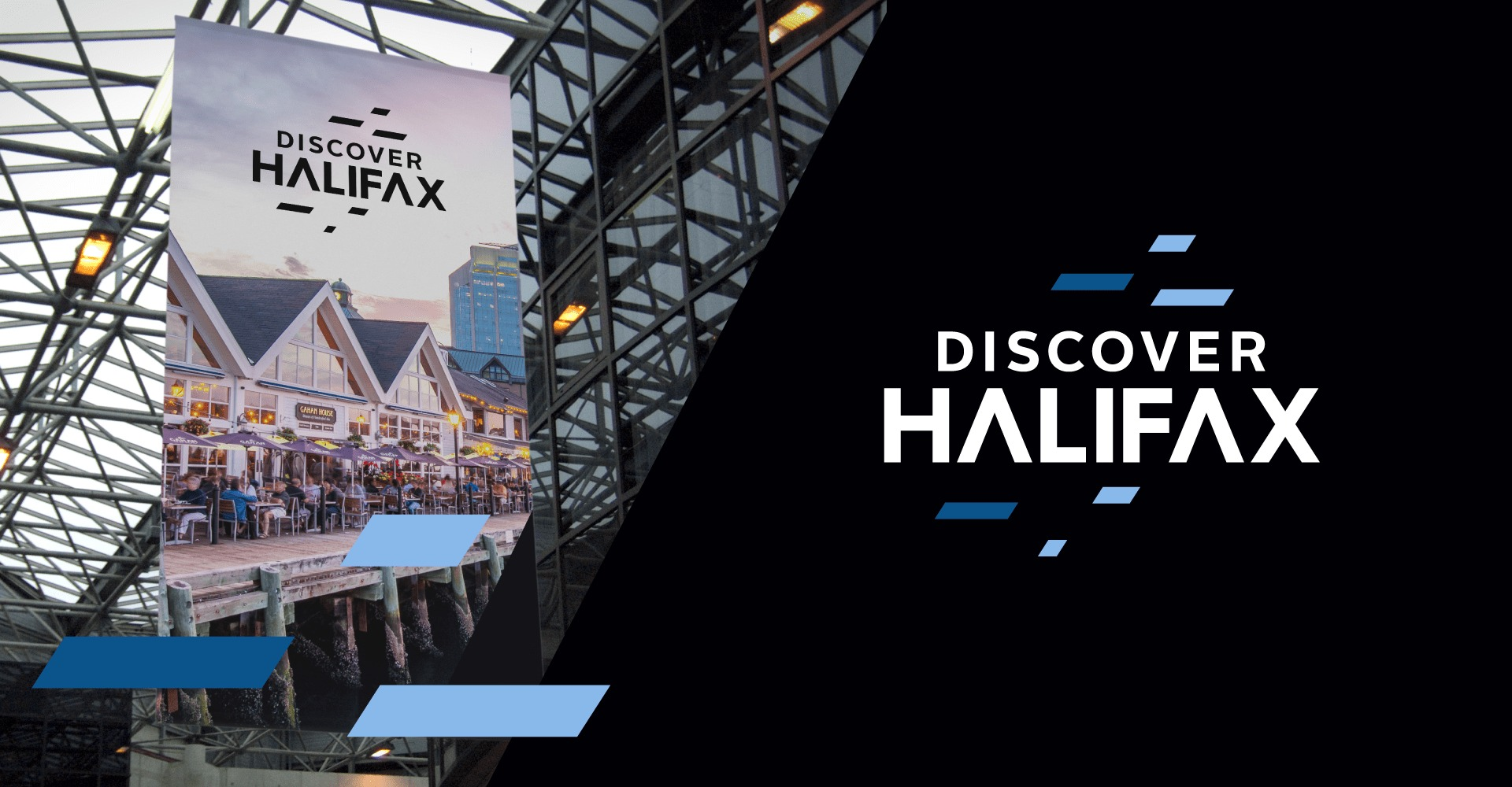 Dicover Halifax Logo and Print Advertisements