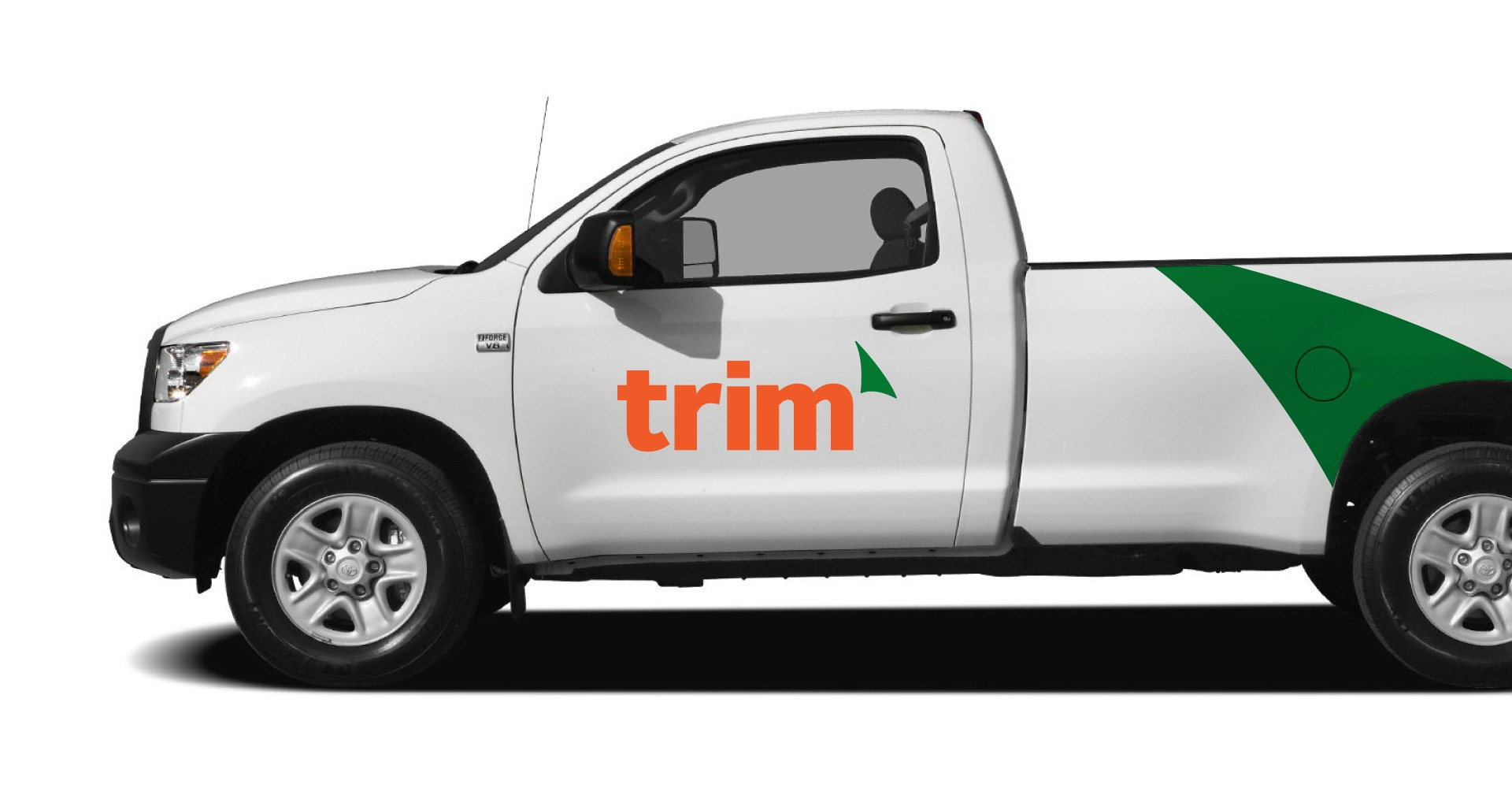 Trim Landscaping truck design and logo