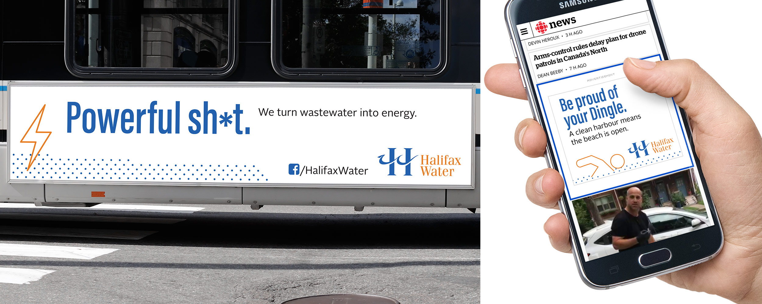 Cell phone and bus advertisements, media buys in Halifax