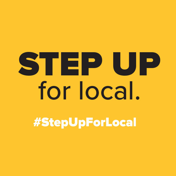 Photo for STEP UP. FOR LOCAL.